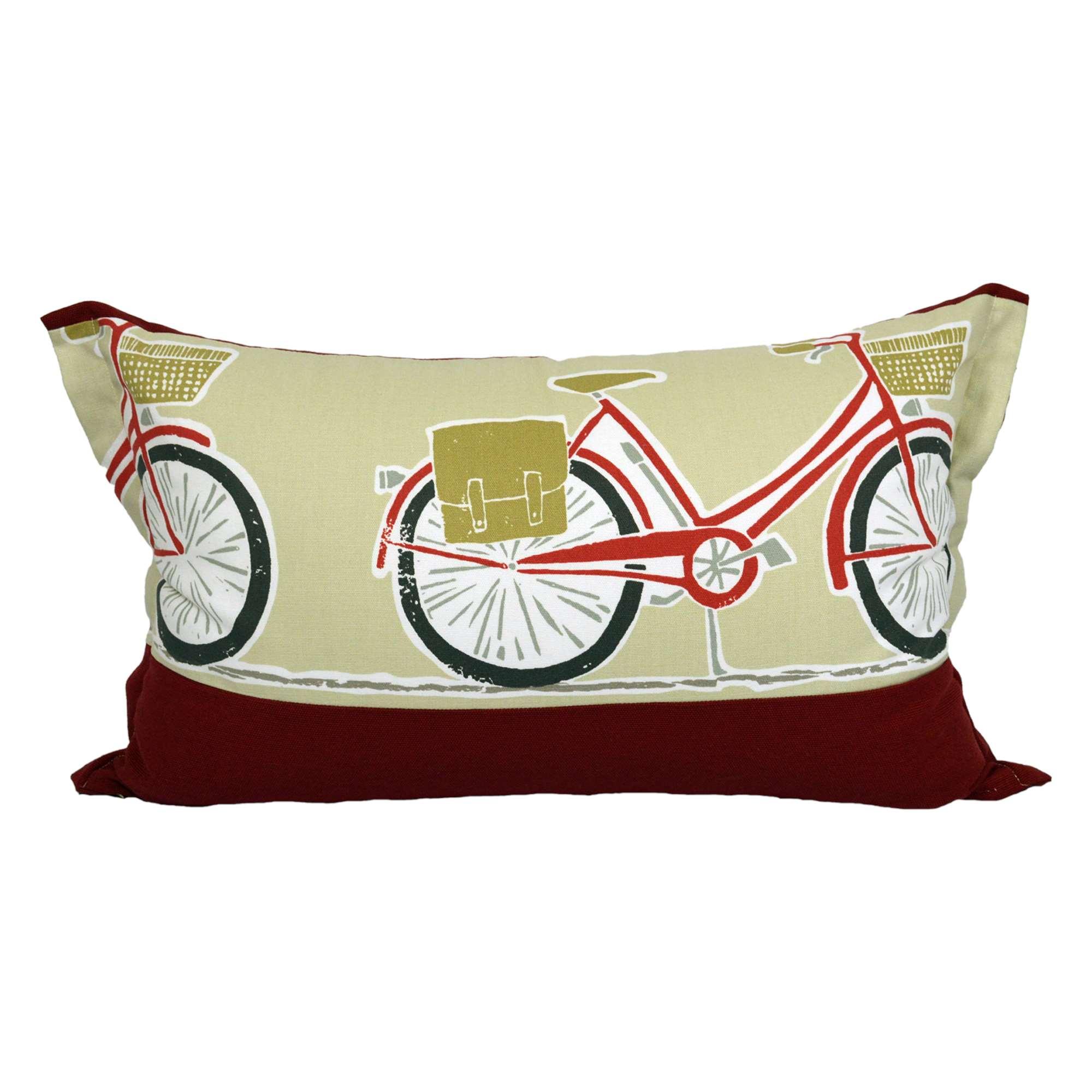 Federa cuscino stampa bici tina codazzo home for Misure cuscino carrozzina