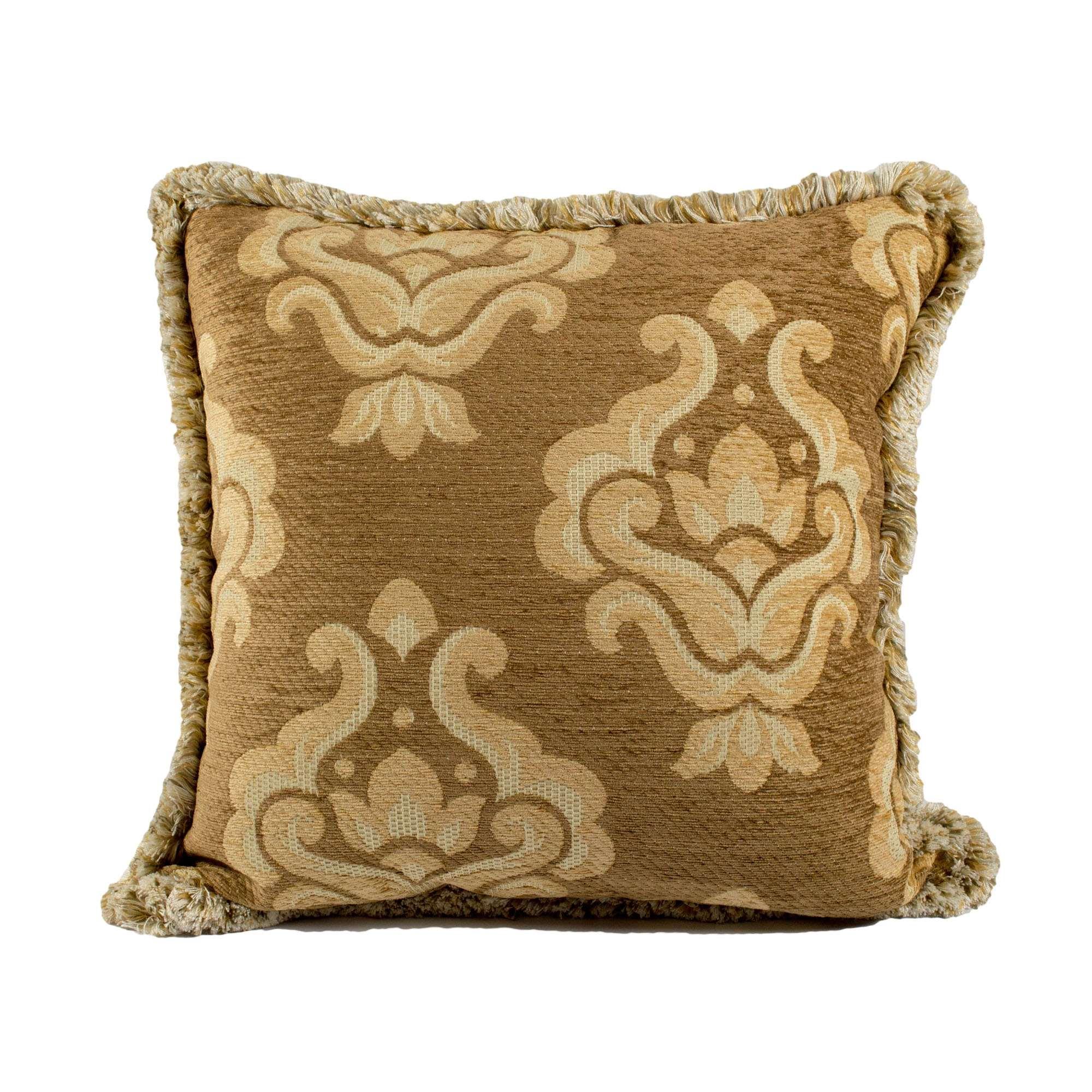 Federa cuscino ciniglia damascato con spazzolino tina for Misure cuscino carrozzina