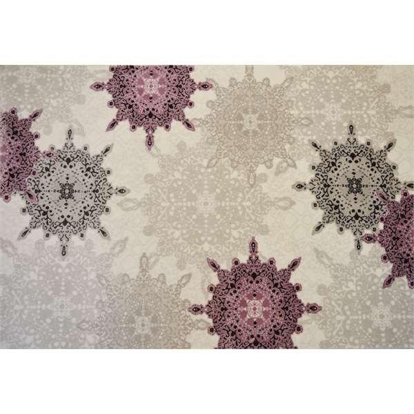 Tappeti damascati tappeto in velluto collage marrone x cm - Tappeti damascati ...