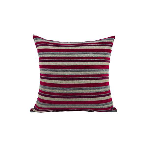 Federa cuscino design righe Velvet bordeaux